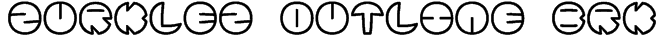 Zurklez Outline BRK Font
