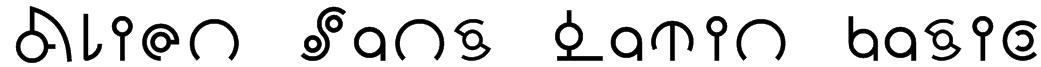 Alien Sans Latin basic Font