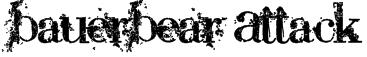 BauerBear Attack Font