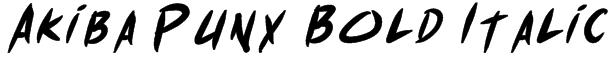 Akiba Punx Bold Italic Font