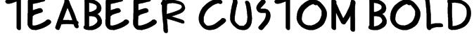 Teabeer Custom Bold Font