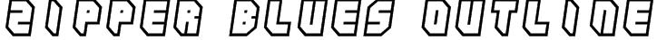 Zipper blues Outline Font