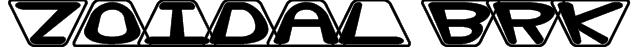 Zoidal BRK Font