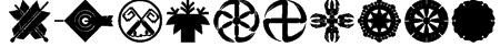 Oriental Icons III Font