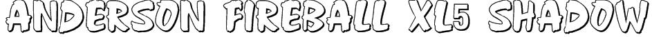 Anderson Fireball XL5 Shadow Font