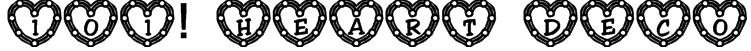 101! Heart Deco Font