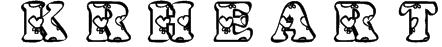 KR Heartfilled Font