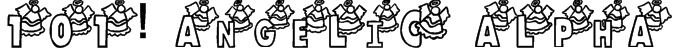 101! Angelic Alpha Font