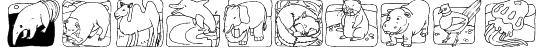 LMS Zoo and Aquarium Life Ding Bat Font