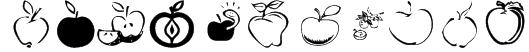 KR Apple A Day Font