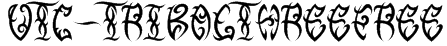 VTC-TribalThreeFree Font
