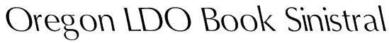 Oregon LDO Book Sinistral Font
