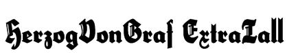 HerzogVonGraf ExtraTall Font