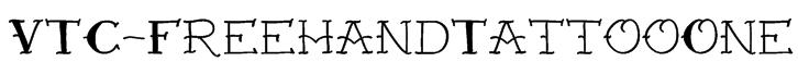 VTC-FreehandTattooOne Font