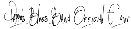 Pappo's Blues Band Official Font Font
