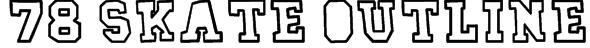 78 skate outline Font