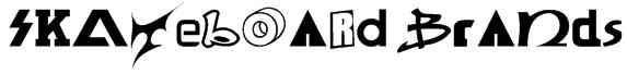 SKATEBOaRD braNds  Font