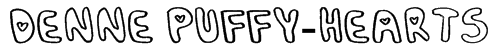 Denne Puffy-Hearts Font