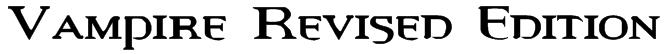 Vampire Revised Edition Font