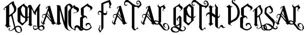 Romance Fatal Goth Versal Font