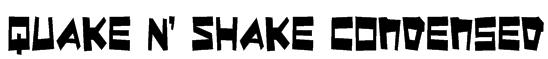 Quake & Shake Condensed Font