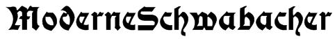 ModerneSchwabacher Font