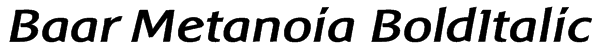Baar Metanoia BoldItalic Font