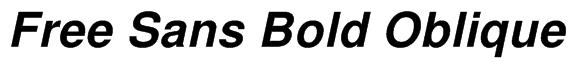Free Sans Bold Oblique Font
