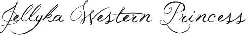 Jellyka Western Princess Font