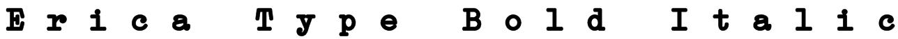 Erica Type Bold Italic Font
