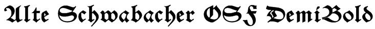 Alte Schwabacher OSF DemiBold Font