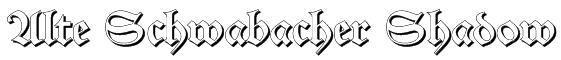 Alte Schwabacher Shadow Font
