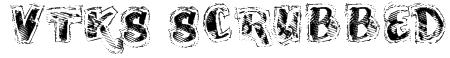 VTKS SCRUBBED Font