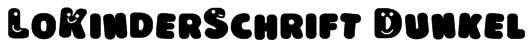 LoKinderSchrift Dunkel Font