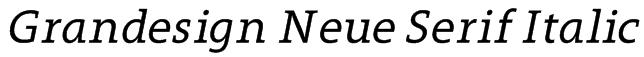Grandesign Neue Serif Italic Font