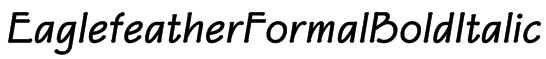 EaglefeatherFormalBoldItalic Font