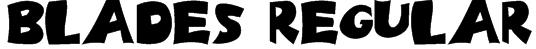 Blades Regular Font