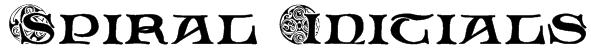 Spiral Initials Font