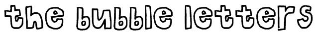 the bubble letters Font