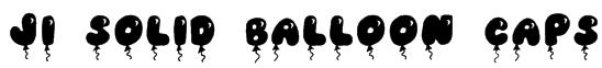 JI Solid Balloon Caps Font