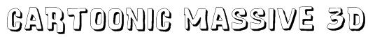 Cartoonic Massive 3D Font
