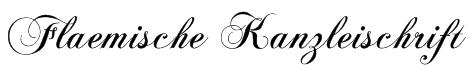Flaemische Kanzleischrift Font