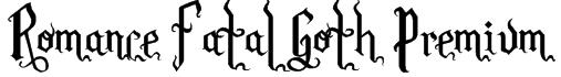 Romance Fatal Goth Premium Font