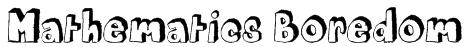 Mathematics Boredom Font