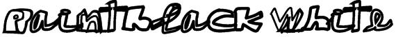 paintblack white Font
