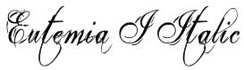 Eutemia I Italic Font
