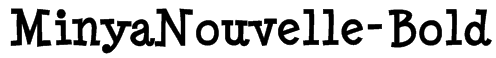 MinyaNouvelle-Bold Font