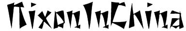 NixonInChina Font