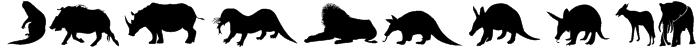 Afrika Wildlife B Mammals2 Font