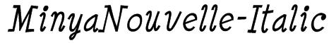 MinyaNouvelle-Italic Font